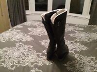 Black pavers boots