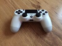 immaculate white ps4 controller used once