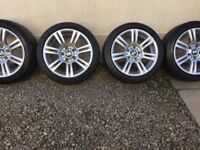 4-17 inch bmw m sport alloys and tyres