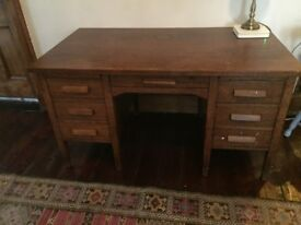 Solid wood, large desk with character, good condition