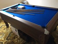 7ft Walnut Slate bed pool Table