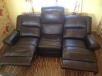 Leather 6 Seater Sofa Set