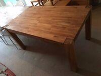 Large Oak Veneer Dining Table