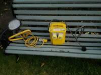 110v Industrial double socket unit + spot light (Reduced)