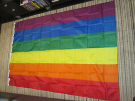 Gay pride flag - Large 6x4ft – New - (collect from loughton)