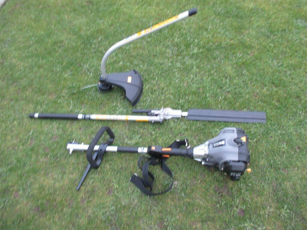 TITAN PETROL MULTI TOOL STRIMMER/LONG REACH HEDGE TRIMMER