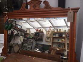 Vintage over mantel mirror