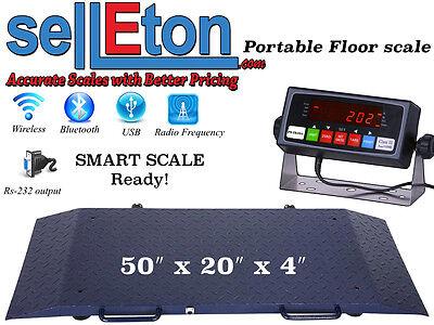 Portable Floor Scale Multi Purpose To Weigh Drum Vet Livestock 2000 X .2 Lb