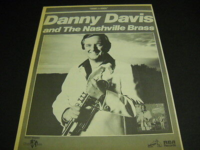 DANNY DAVIS and The Nashville Brass - Thanks A Bunch 1978 PROMO POSTER AD mint