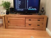TV stand. Real Oak, Hudson range from Next