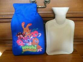 Moshi Monsters hot water bottle cover, with hot water bottle