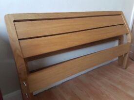 Double Bed Solid Oak Habitat Radius