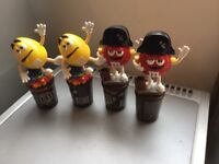 M&M,s candy dispensers (4 rare Collectibles)