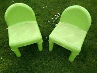 Kids plastic chairs - PENDING PICKUP