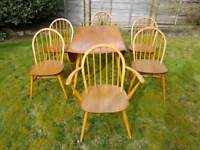 Ercol Table and Six Chairs