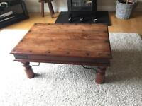 Dark solid wood coffee table, excellent Condition