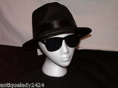 Blues Brothers Halloween (Set of (2) Blues Brothers Fedora Costume Hat & Sunglasses Halloween Costume)