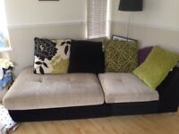 Lime green corner sofa (furniture village)- in 2 parts in picture