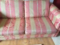 Free to a good home Double sofa-bed, generous 2 seater,