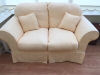 Sofa x2 + 1 Arm Chair in lemon, excellent condition barely used.