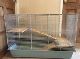 Hamster or chinchilla cage and accessories