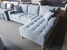 1-3 days Delivery VINOTTI !!Very Soft!! Corner Sofa Bed Container for bedding Sleeping function Grey