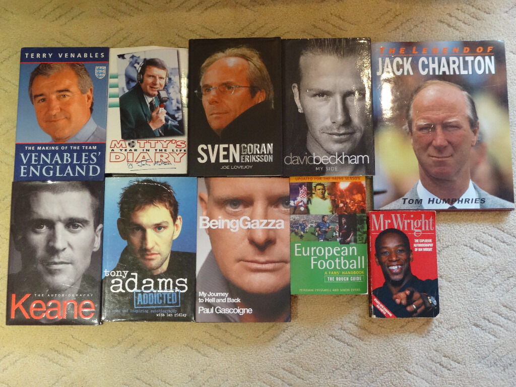Selection of Football related autobiographies, 8 hardback, 2 paperback - all in excellent condition