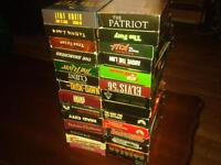 40  vhs movies  these are all s good action movies some western