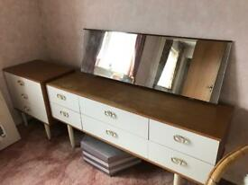 FREE RETRO DRESSING TABLE AND CHEST OF DRAWERS
