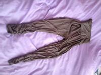 Size 8 khaki harem trousers