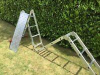 Versatile aluminium DIY ladder