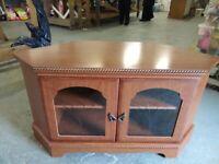 Wooden TV stand cabinet cupboard corner unit