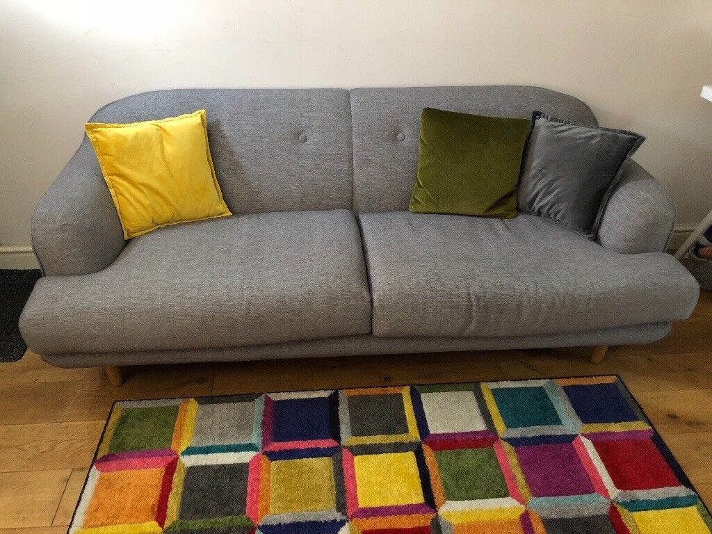 Made Gracie 3 Seater Sofa in Moonstone