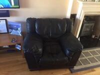 Italian nappa leather 3 piece sofa