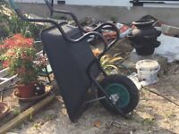 Wheelbarrow with pneumatic tyre, little used