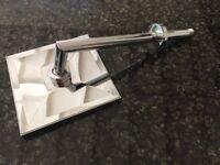 Square Chrome Shower Head & Shower Arm (20cm x 20cm)