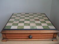 Marble and Wooden Chess & Draughts Set and Board