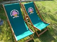 Ben and jerry's deck chairs x2