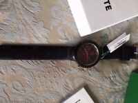 LACOSTE MEN'S BORNEO WATCH 44mm black dial. Water resistant to 10 ATM