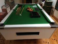 Pool Table 7ft SuperLeague in white