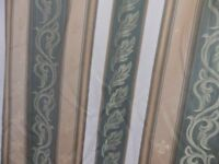 Pair of Montgomery Pencil Pleat & Lined Lounge Curtains in Very Good Condition