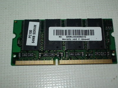 Pc100 Sdram Pc Speicher (Arbeitsspeicher SDRAM SD RAM 64 MB PC100 026MLDSG60050170 )