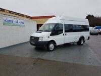 FORD TRANSIT 17 SEATER MINIBUS *TACHO AND SPEED CERT*