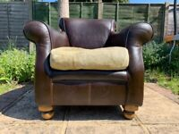 Tetrad Hemingway Leather Club Chair / Armchair – Finest Quality – Great Condition