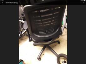 Office chair, black, fully adjustable, Herman Miller inspired design