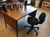 Office table and swivel chair