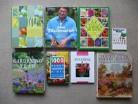 BUNDLE / JOB LOT OF 8 GARDENING BOOKS COVERING INDOOR AND OUTDOOR PLANTS AND FLOWERS INC. TITCHMARSH