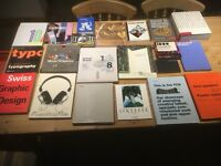 Collection of 21 graphic design books in good condition were used on a degree course .