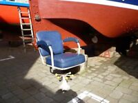 Marine, Fishing boat seat, Captain, Helms seat