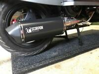 Scomadi tl125 complete engine / mb200 upgrade and scorpion exhaust